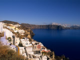 White Buildings on the Cliffs in Oia, Santorini, Greece Photographic Print by Bill Bachmann