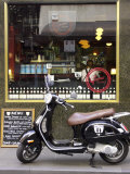 Genovese Coffee and Vespa, Little Collins Street, Melbourne, Victoria, Australia Photographic Print by David Wall