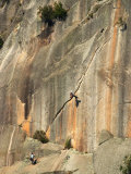 Rock Climbing, Mt Buffalo National Park, Victoria, Australia Photographic Print by David Wall