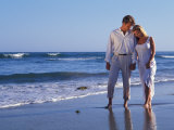 Couple on Vacation at Tropical Beach Photographic Print by Bill Bachmann