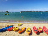 Kayaks, Paihia, Northland, New Zealand Photographic Print by David Wall