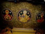 Orthodox Icons on Ceiling of Church in St. Paul and Peter's Cathedral, Constanta, Romania Photographic Print by Cindy Miller Hopkins