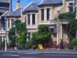 Historic Terrace Houses, Stuart Street, Dunedin, New Zealand Photographic Print by David Wall