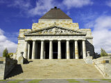 Shrine of Remembrance, Melbourne, Victoria, Australia Photographic Print by David Wall
