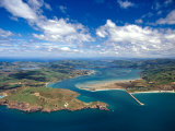Taiaroa Head, Otago Peninsula, Aramoana and Entrance to Otago Harbor, near Dunedin, New Zealand Photographic Print by David Wall