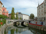 Triple Bridge by Joze Plecnik, Ljubljana, Slovenia Photographic Print by Lisa S. Engelbrecht