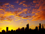 Melbourne CBD at Dawn, Victoria, Australia Photographic Print by David Wall