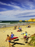 Crowds at the Beach, Torquay, Great Ocean Road, Victoria, Australia Photographic Print by David Wall