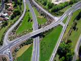 Motorway Intersection, Mosgiel, near Dunedin, New Zealand Photographic Print by David Wall