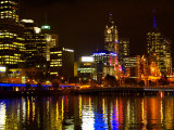 Yarra River, Queens Bridge and CBD, Melbourne, Victoria, Australia Photographic Print by David Wall