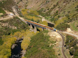 Taieri Gorge Train at Hindon Bridge, Taieri Gorge, near Dunedin, New Zealand Photographic Print by David Wall