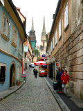 Cobblestone Street, Lower Town, Zagreb, Croatia Photographic Print by Lisa S. Engelbrecht