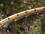 Taieri Gorge Train at Flat Stream Viaduct, Taieri Gorge, near Dunedin, New Zealand Photographic Print by David Wall