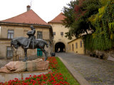 Bronze Statue of St. George, Stone Gate, Zagreb, Croatia Photographic Print by Lisa S. Engelbrecht