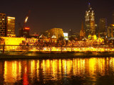 Yarra River, Flinders Street Station and CBD, Melbourne, Victoria, Australia Photographic Print by David Wall