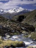 Mountain Range Panorama, Pontresina Region, Switzerland Fotografie-Druck von Art Wolfe