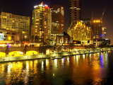 Southbank, Yarra River, Melbourne, Victoria, Australia Photographic Print by David Wall