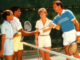 Couples Playing Tennis Together Reproduction photographique par Bill Bachmann