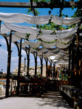 Waterfront Cafe, UNESCO World Heritage Site, Nessebur, Bulgaria Photographic Print by Cindy Miller Hopkins