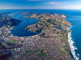 Dunedin, Otago Peninsula Harbor and Pacific Ocean, New Zealand Photographic Print by David Wall