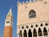 Bell Tower, Doge's Palace and St. Marks's Campanile, Venice, Italy Photographic Print by Lisa S. Engelbrecht