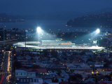 Night Rugby, Carisbrook, Dunedin, New Zealand Photographic Print by David Wall