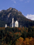 Bavarian Alps and Neuschwanstein Castle, Germany, Photogaphic Print