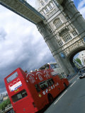 Tower Bridge with Double-Decker Bus, London, England Photographic Print by Bill Bachmann