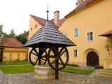 Water Well in Convent Courtyard, Upper Town, Zagreb, Croatia Photographic Print by Lisa S. Engelbrecht