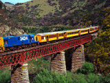 Taieri Gorge Train, near Dunedin, Otago, New Zealand Photographic Print by David Wall