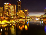 Southbank and Yarra River, Melbourne, Victoria, Australia Photographic Print by David Wall