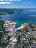 Port Chalmers and Otago Harbor, Dunedin, New Zealand Photographic Print by David Wall