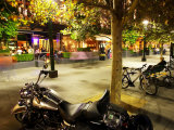 Motorcycle, Southgate Precinct, Southbank Promenade, Melbourne, Victoria, Australia Photographic Print by David Wall