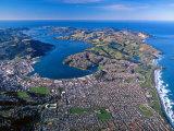 Otago Harbor and Otago Peninsula, Dunedin City, New Zealand Photographic Print by David Wall