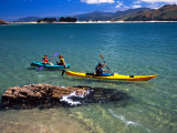 Kayaks, Otekiho Beach, Otago Harbor, New Zealand Photographic Print by David Wall