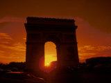 Arc de Triomphe at Sunset, Paris, France Photographic Print by Bill Bachmann