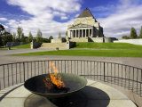 Eternal Flame, Shrine of Remembrance, Melbourne, Victoria, Australia Photographic Print by David Wall