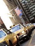 Line of Taxi Cabs in New York City, New York, USA Fotodruck von Bill Bachmann