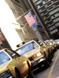 Line of Taxi Cabs in New York City, New York, USA Stampa fotografica di Bill Bachmann