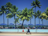 Swimming Pool, Sheraton Fiji Resort, Denarau Island, Fiji Photographic Print by David Wall