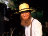 Man with Hat in Intercourse, Amish Country, Pennsylvania, USA Photographie par Bill Bachmann