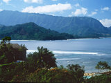 View of Hanalei Bay and Bali Hai from the Princeville Hotel, Kauai, Hawaii, USA Photographic Print by Charles Sleicher