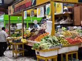 Fruit and Vegetable Stand in the Central Market, Mazatlan, Mexico Photographic Print by Charles Sleicher