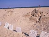Boardwalk Beach Sand of Christ, Ocean City, Maryland, USA Fotografie-Druck von Bill Bachmann