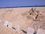 Boardwalk Beach Sand of Christ, Ocean City, Maryland, USA Photographic Print by Bill Bachmann