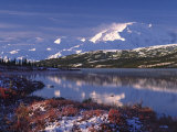 Wonder Lake at Dawn, Denali National Park, Alaska, USA Photographic Print by Charles Sleicher