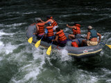 Whitewater Rafting in Salmon River, Idaho, USA Photographic Print by Bill Bachmann