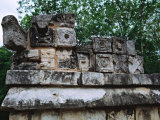 Wall Detail, Chichen Itza, Mexico Photographic Print by Charles Sleicher