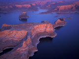 Aerial of Lake Powell, Glen Canyon NRA, Utah, USA Fotografie-Druck von Art Wolfe