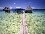 Restaurant Over the Water, Bocas del Toro Islands, Panama Fotodruck von Art Wolfe